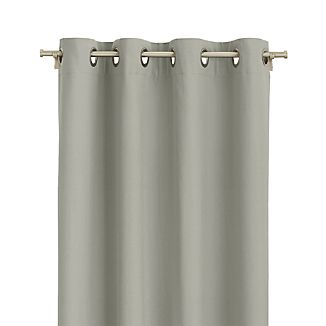 """Wallace 52""""x84"""" Grey Grommet Curtain Panel"""