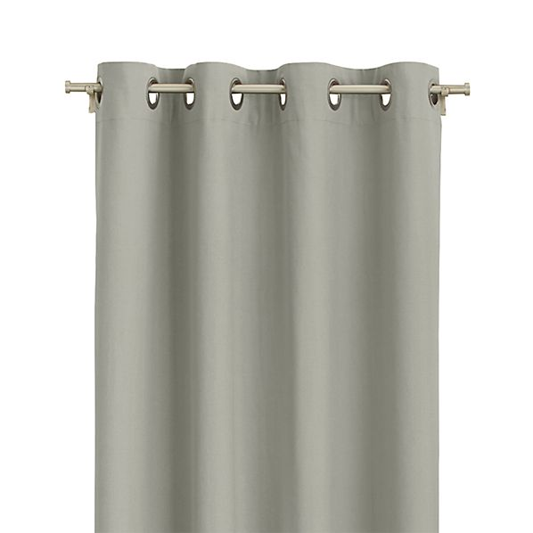 """Wallace 52""""x108"""" Grey Grommet Curtain Panel"""