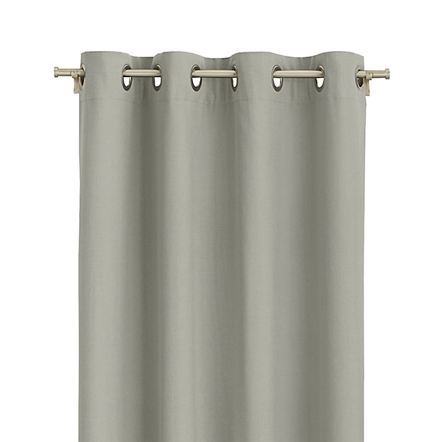 "Wallace 52""x108"" Grey Grommet Curtain Panel - Image 1 of 9"