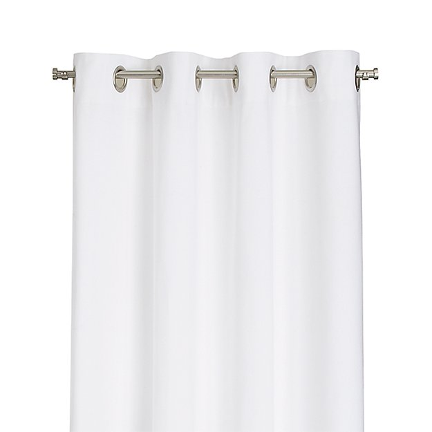 "Wallace 52""x63"" White Grommet Curtain Panel"