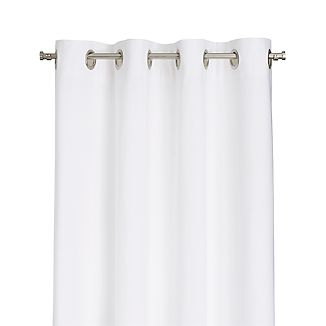 "Wallace 52""x108"" White Grommet Curtain Panel"
