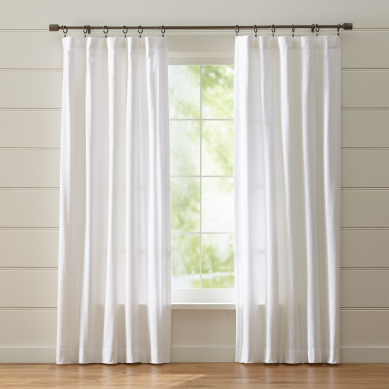 curtain panels blackout curtains wallace white crate barrel and