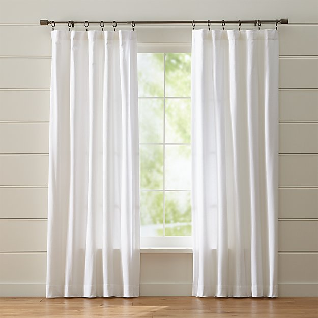 Wallace White Curtains - Image 1 of 7