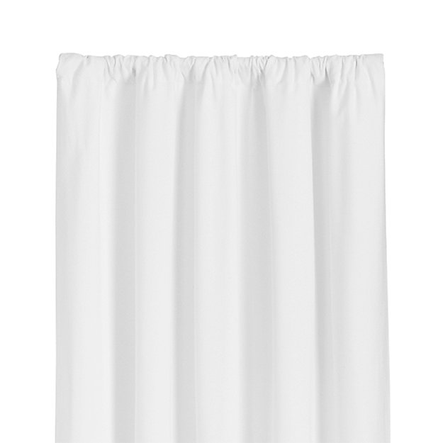 "Wallace 52""x63"" White Curtain Panel"