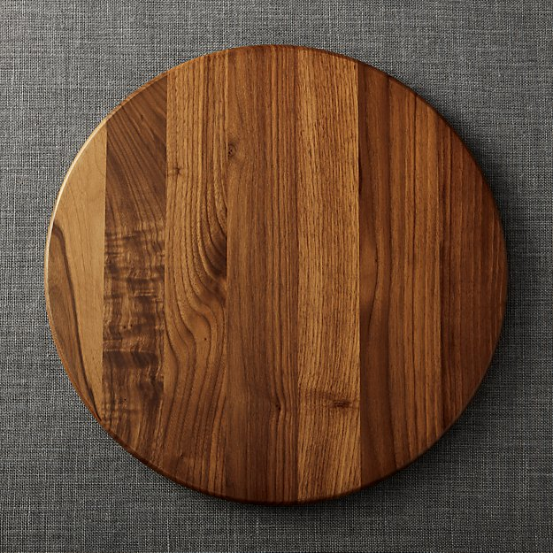 Walnut Lazy Susan 18 Quot Reviews Crate And Barrel