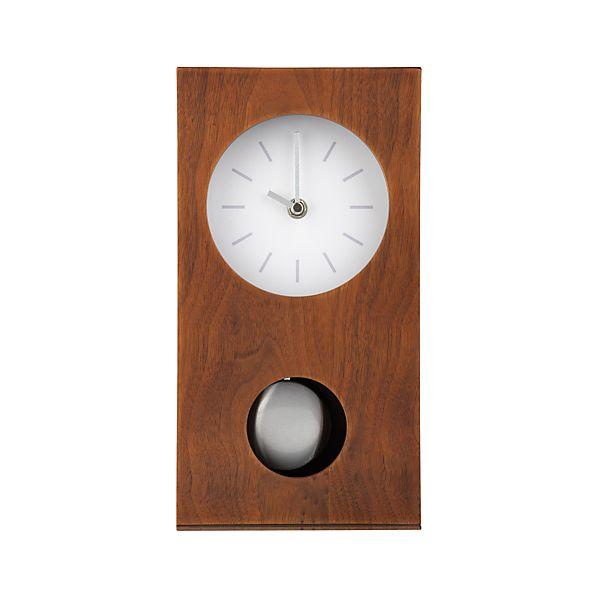 Walnut Mantel Clock