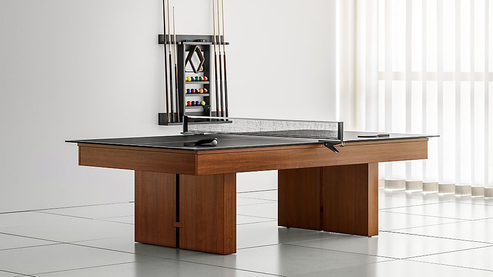Remarkable Walnut Pool Table With Table Tennis Kit Grey Felt Reviews Crate And Barrel Home Interior And Landscaping Dextoversignezvosmurscom