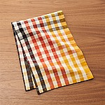 Warm Orange-Yellow Check Dish Towel