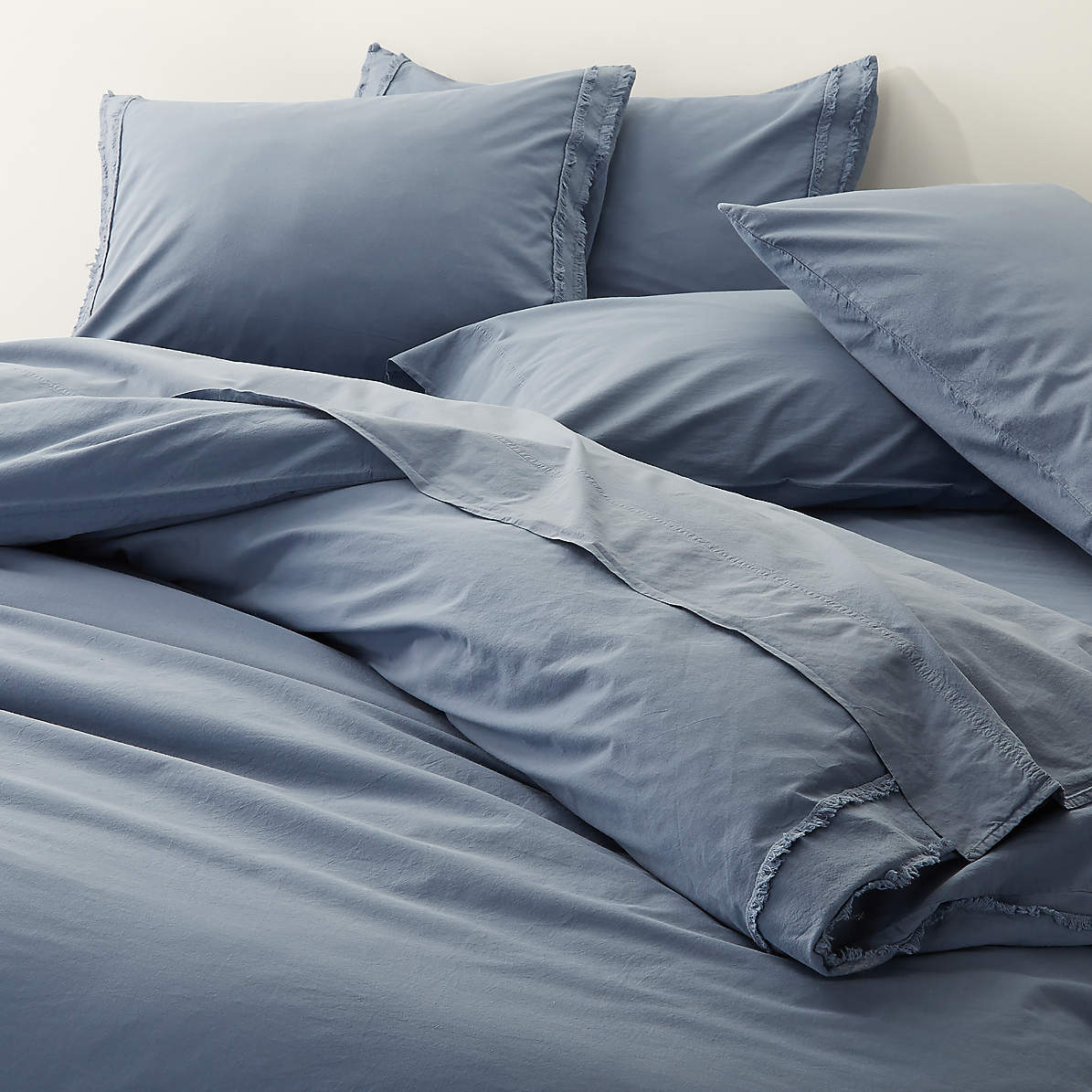Organic Cotton Blue King Duvet Cover Reviews Crate And Barrel