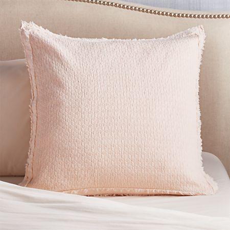 Washed Organic Cotton Blush Euro Pillow Sham