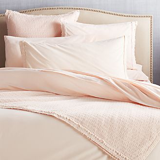 a53f484ca604 Washed Organic Cotton Blush Coverlets and Pillow Shams
