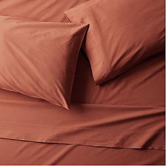 Washed Organic Cotton Red Sheet Sets
