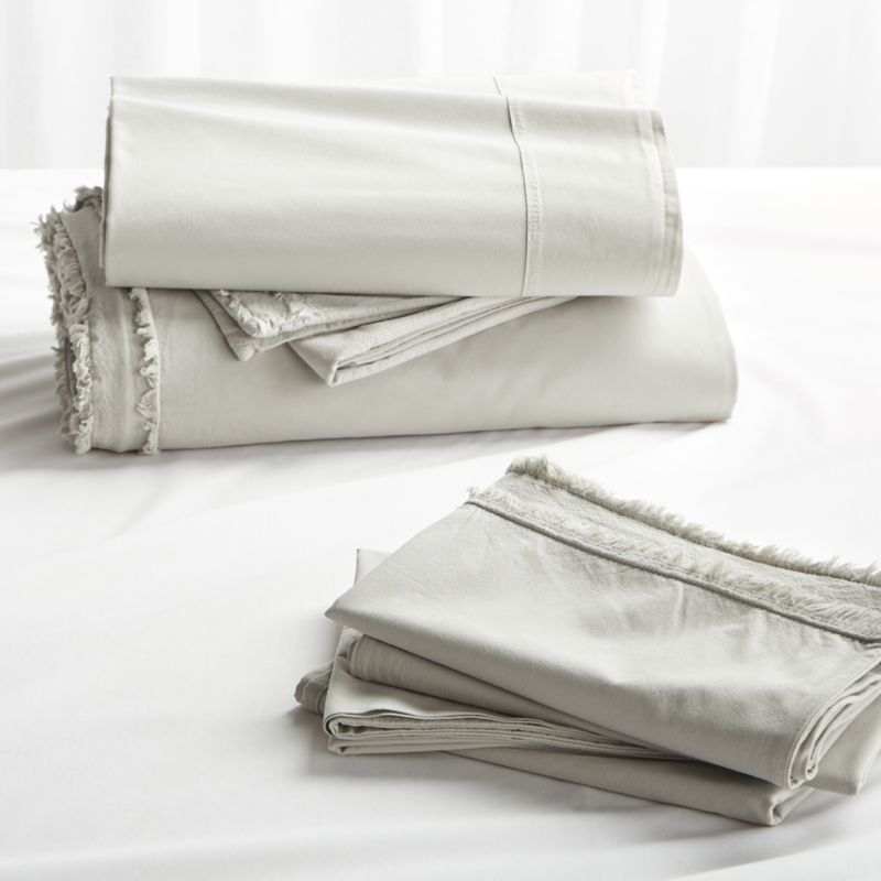 48c6729918a9 Washed Organic Cotton Grey King Bedding Set + Reviews | Crate and ...