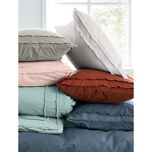 Organic Cotton White Full Bedding Set, Crate And Barrel Bedding Reviews