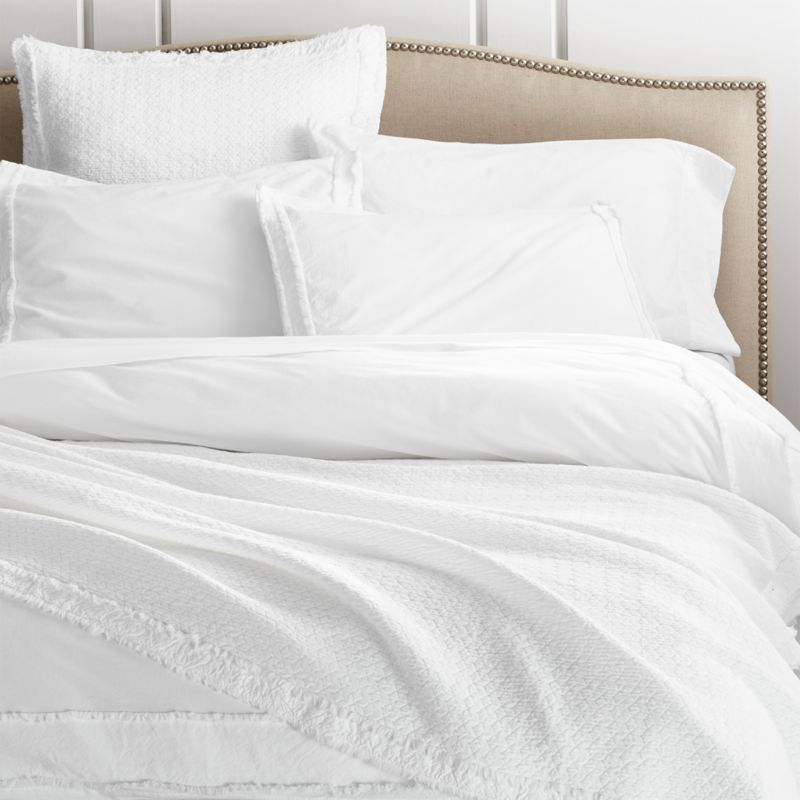 Washed Organic Cotton Duvet Covers And Pillow Shams