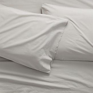 Washed Organic Cotton Grey Sheet Sets