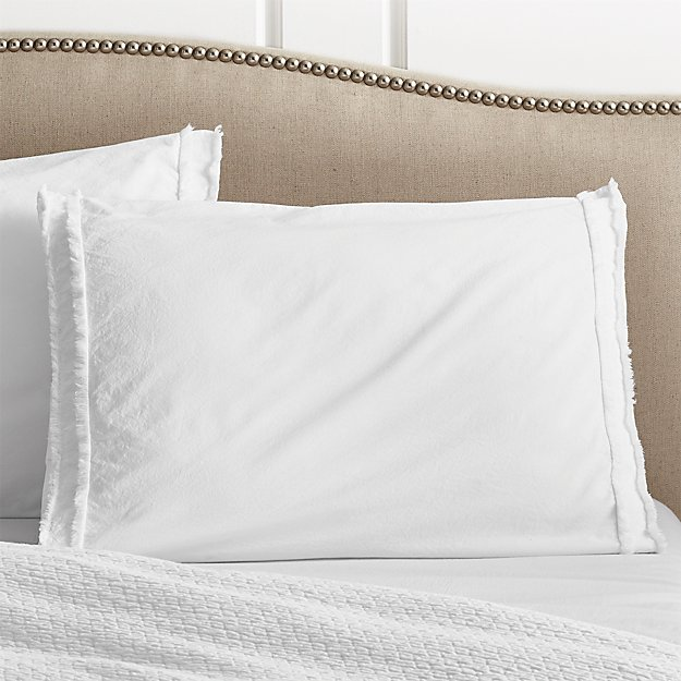 Washed Organic Cotton White Standard Sham - Image 1 of 11