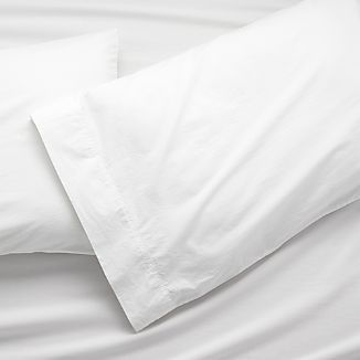 Washed Organic King Pillow Cases, Set of 2