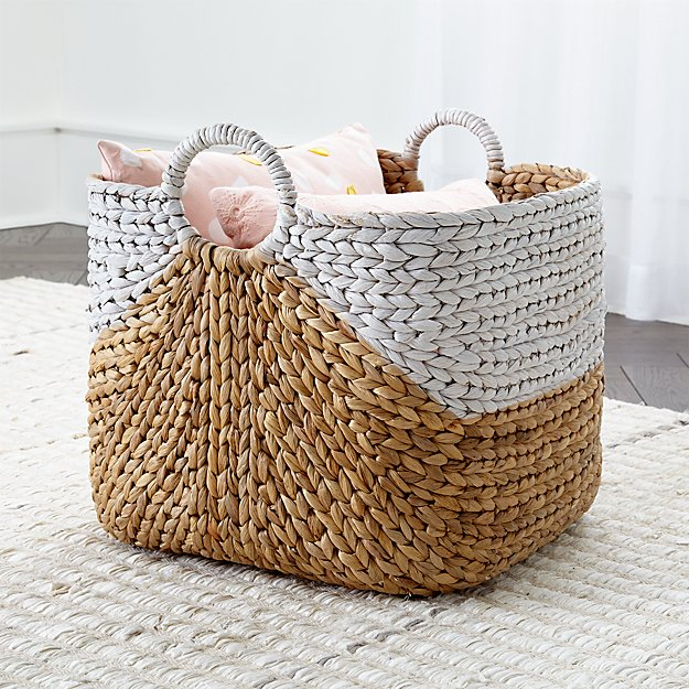 Water Hyacinth Basket Reviews Crate And Barrel