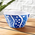 Water Stripe Melamine Bowl
