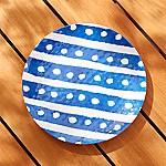 Water Stripe Melamine Dinner Plate