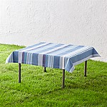 Water Stripe Square Blue Picnic Tablecloth
