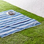 Water Stripe Blue Picnic Blanket 60 x60