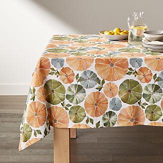 Watercolor Pumpkins Tablecloth