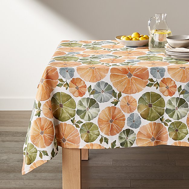 Watercolor Pumpkins Tablecloth - Image 1 of 2