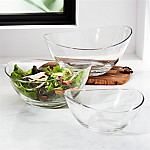 Wave Glass Mixing Bowls, Set of 3