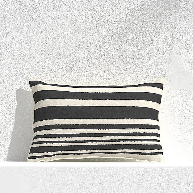 """Mohave Wide Stripe 20""""x13"""" Outdoor Pillow - Image 1 of 3"""
