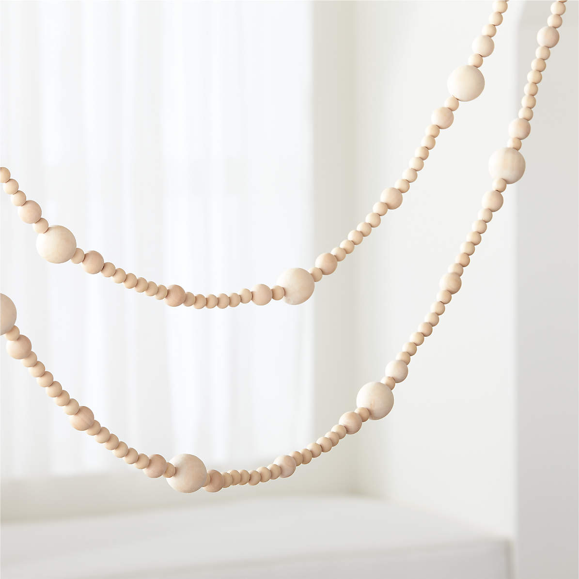 Wood Bead Garland Reviews Crate And Barrel Canada