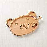 Wooden Bear Dinner Set
