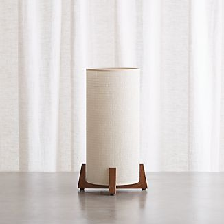 Decorative table lamps crate and barrel weave natural table lamp aloadofball Image collections
