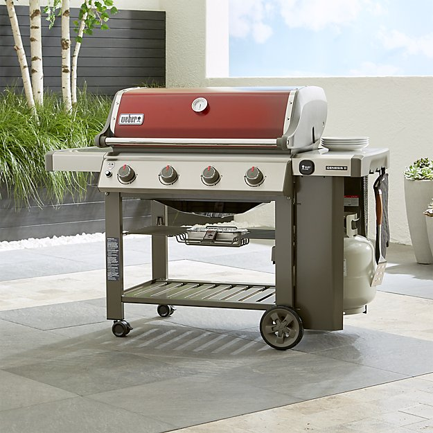 Crimson Weber Genesis Gas Grill Crate And Barrel
