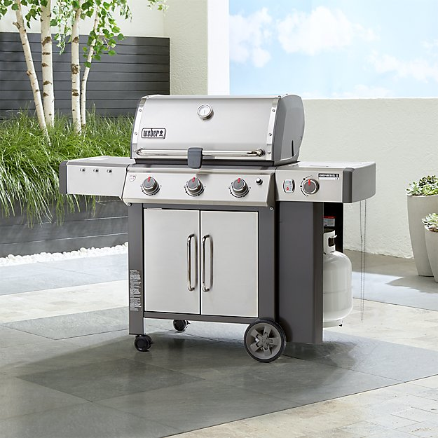 weber genesis ii lx s 340 3 burner gas grill reviews crate and barrel. Black Bedroom Furniture Sets. Home Design Ideas