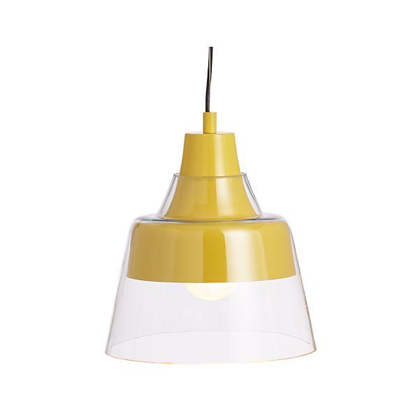 Webster Yellow Pendant Light
