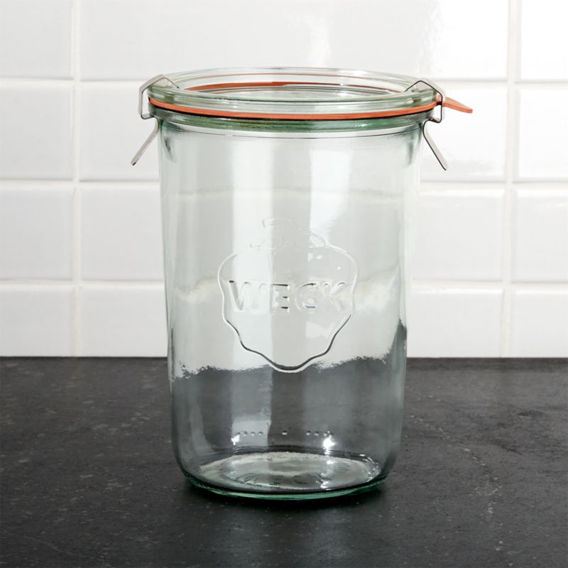 With the rise in home canning and preserving, it's only natural we'd revisit these German classics—keeping it fresh since 1900. Unlike other canning jars, Wecks feature an open tapered shape that's easier to fill and empty, rust-free glass lids (no can opener required), and sealing gaskets that are easy to check at a glance. Jars stack for convenient storage.<br /><br /><NEWTAG/><ul><li>Soda lime glass</li><li>26 oz.</li><li>Dishwasher-, microwave- and freezer-safe</li><li>Made in Germany</li></ul>