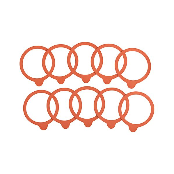 Weck Medium Rubber Replacement Seals Sets of Ten