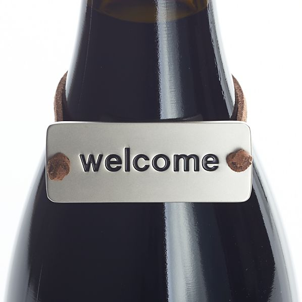 Welcome Bottle Tag