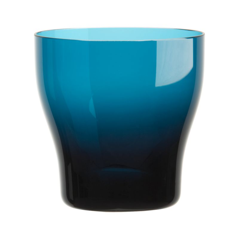 Conceived with the thought of friends and family coming together and enjoying good food, wine and conversation, our exclusive Welcome collection is informed by an encompassing multicultural mindset. Handcrafted barware features subtly contoured shapes that feel great in the hand, here in deep blue with clear sham base. These pieces join our extended Welcome family of glazed stoneware dinner pieces, wood, glass and metal serving pieces, glassware and flatware in a tableau of beautifully contrasting color accented with warm metallics, colored glass and oxidized metals.<br /><br /><NEWTAG/><ul><li>Handcrafted clear and amber glass</li><li>Cut and polished rim</li><li>Designed by Aaron Probyn</li><li>Hand wash</li><li>Made in Poland</li></ul>