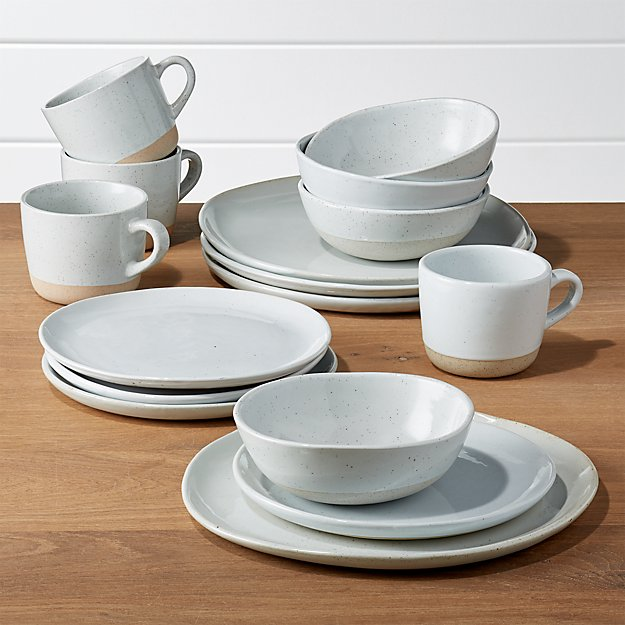Welcome II 16-Piece Dinnerware Set + Reviews  Crate and Barrel