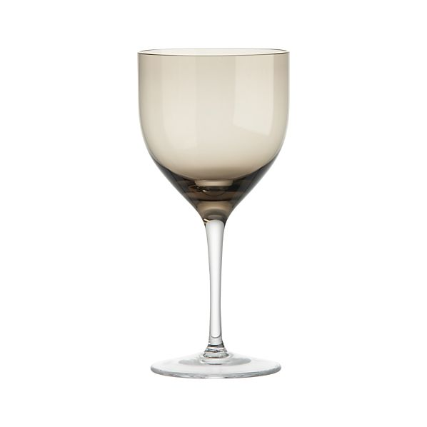 Welcome Grey Red Wine Glass
