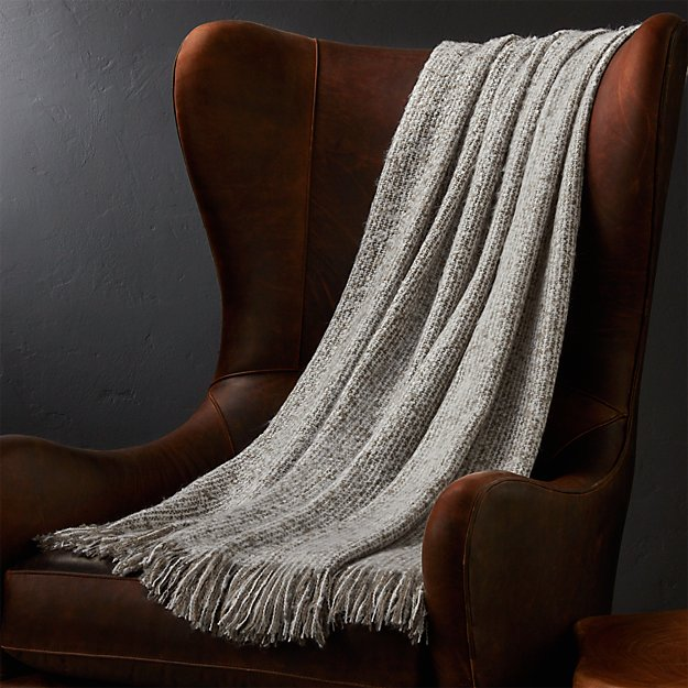 Weldon Taupe Throw Blanket Crate And Barrel