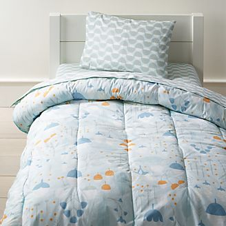 Well Nested Blue Organic Toddler Bedding