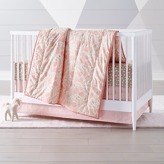 Woodland Pink Baby Quilt In Baby Quilts Reviews Crate
