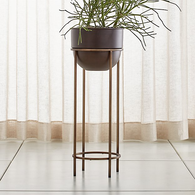 Wesley Large Metal Plant Stand Reviews Crate And Barrel