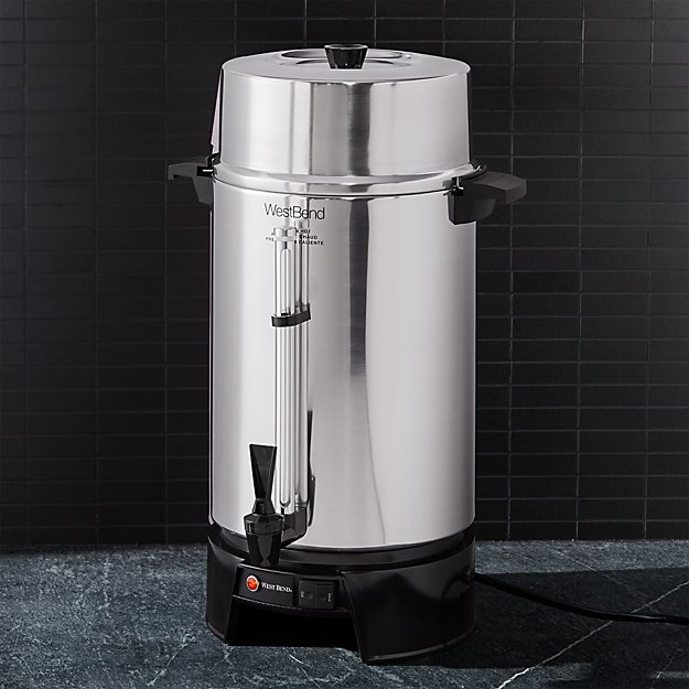 West Bend 100-Cup Aluminum Coffee Urn - Image 1 of 2