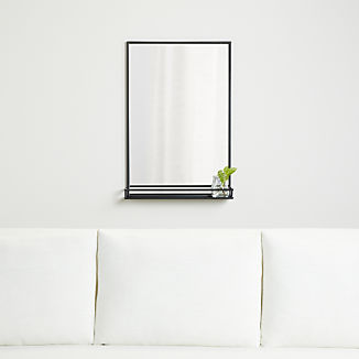 Weston Rectangle Mirror with Shelf