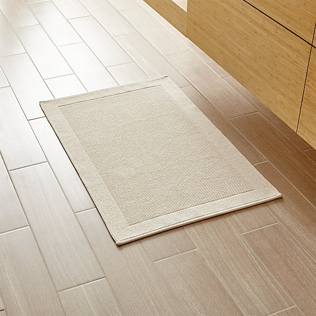 Crate And Barrel Bath Rugs: Westport Oyster Bath Rug
